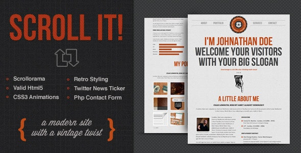 Scroll It! - Creative Single Page Html Template by