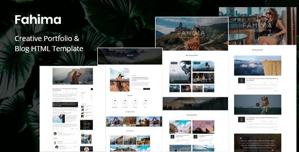 Download Fahima - Creative Portfolio & Blog HTML Template