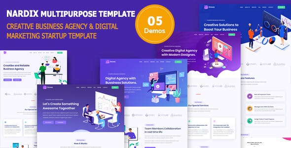Download Nadrix - Business Template & Digital Agency