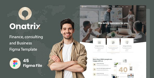 Onatrix - Finance, Consunting and Business Figma Template