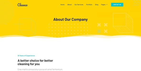 Cleanco - Cleaning Service Company Template Kit