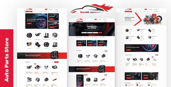 Download Sayara - Auto Parts Store Template
