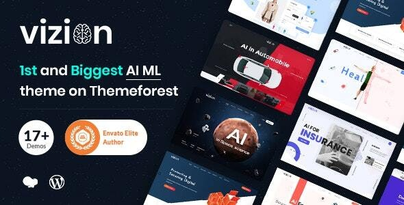 Vizion - AI,Tech & Software Startups WordPress Theme - Technology WordPress