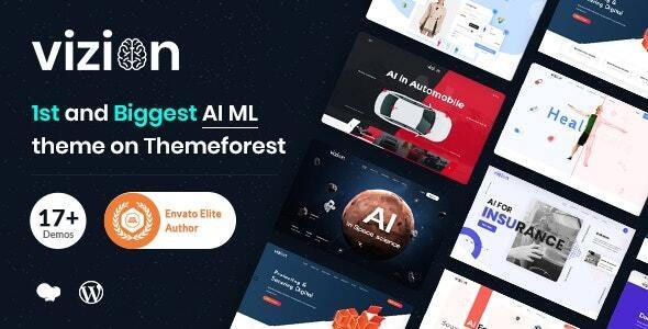 Vizion - AI,Tech & Software Startups WordPress Theme - Technology WordPress