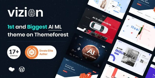 Vizion - AI,Tech & Software Startups WordPress Theme