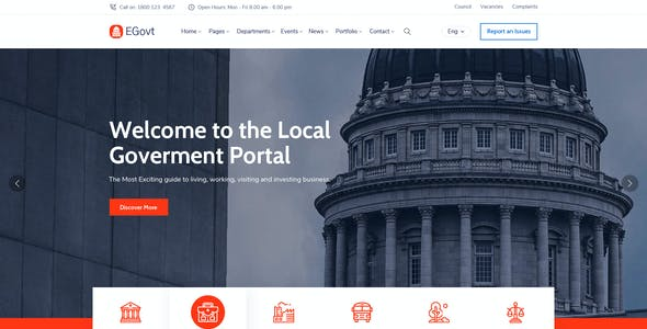 EGovt - City Government & Municipal PSD Template
