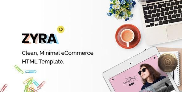 Zyra – eCommerce HTML Template - Fashion Retail