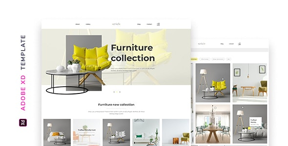Enkel – Furniture Company Template for XD - Adobe XD UI Templates