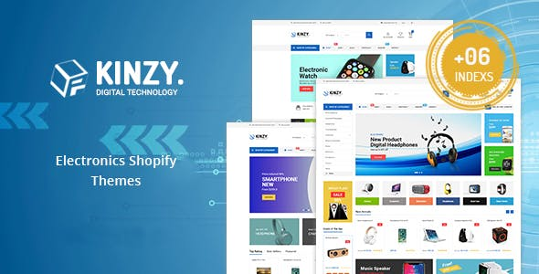 Kinzy - Gadgets & Digital Responsive Shopify Theme