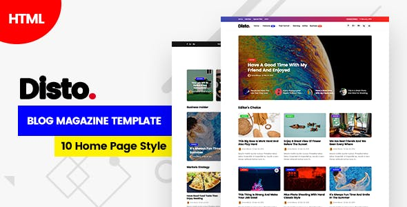 Download Disto - HTML Blog Magazine