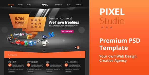 Pixel Studio Premium Website Template
