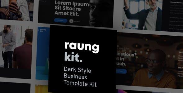 Raung - Dark Style Business Template Kit