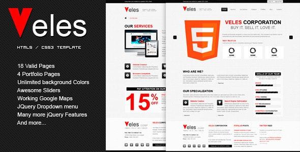 VELES - Premium HTML Template - Corporate Site Templates