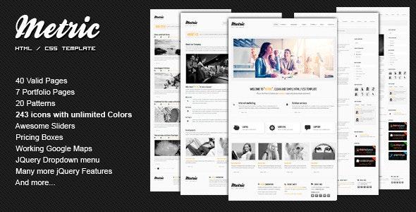 METRIC - Premium HTML Template - Business Corporate