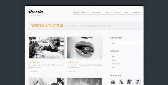 METRIC - Premium HTML Template
