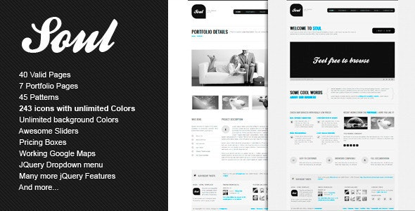 SOUL - Premium HTML Template - Creative Site Templates