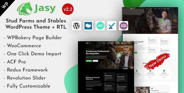 Download Jasy - Horses & Stables WordPress Theme