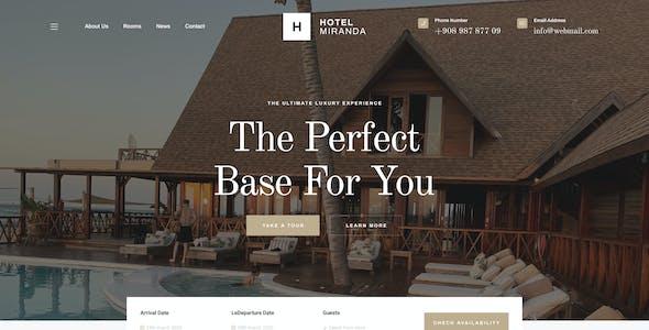 Miranda - Hotel Booking PSD Template