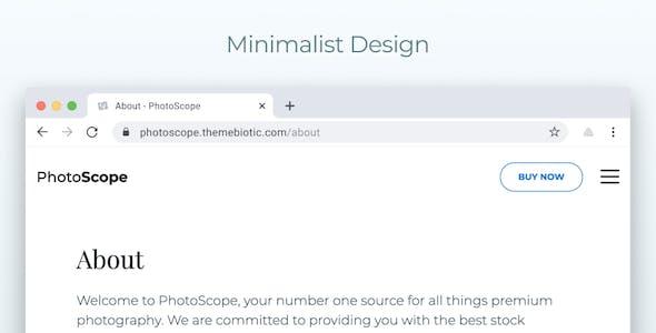 Photoscope - Nuxt & Vue Photography Portfolio Template