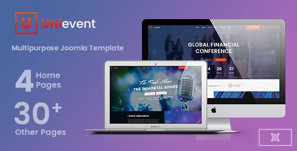 Unievent - Event & Conference Joomla Template - Events Entertainment