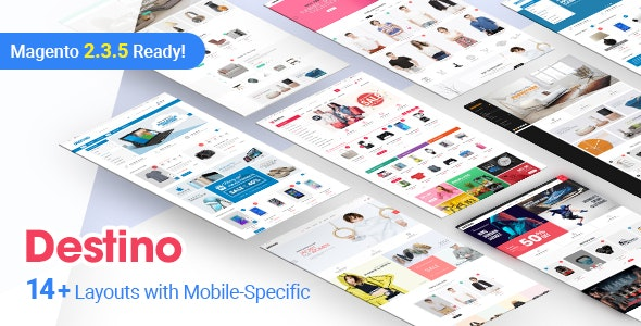 Destino - Premium Responsive Magento Theme with Mobile-Specific Layouts by magentech