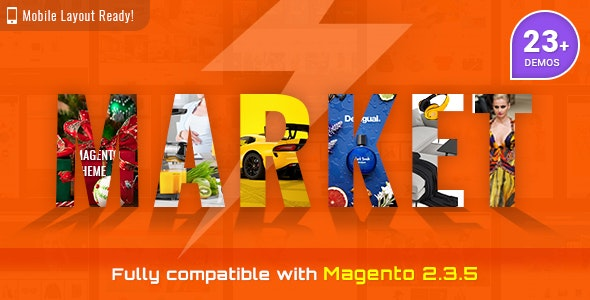 Market - Premium Responsive Magento 2 and 1.9 Store Theme with Mobile-Specific Layout (23 HomePages) by magentech