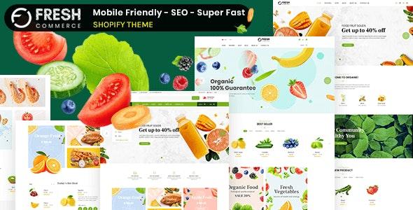 Freshcom Organic - Responsive Shopify Theme - Shopify eCommerce