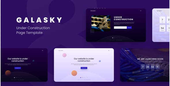 Galasky - Under Construction Pages Website Template Figma