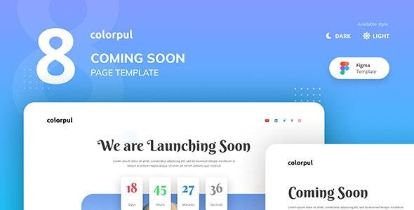 Colorpul - Coming Soon Website Figma Template - Miscellaneous Figma