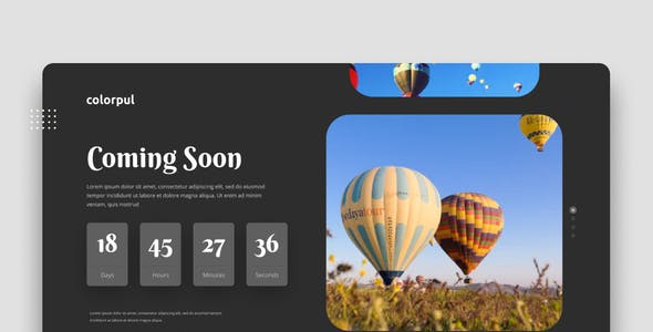 Colorpul - Coming Soon Website Figma Template