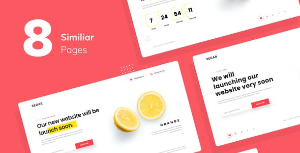 Segar — Coming Soon Website Template Figma