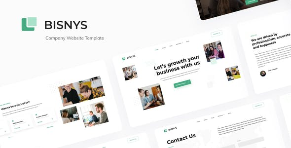 Bisnys — Company Website Design Template Figma