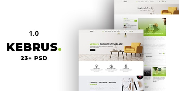 Kebrus | Minimal Multipurpose PSD Template - Business Corporate