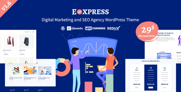 Eoxpress | Marketing Agency WordPress Theme - Marketing Corporate
