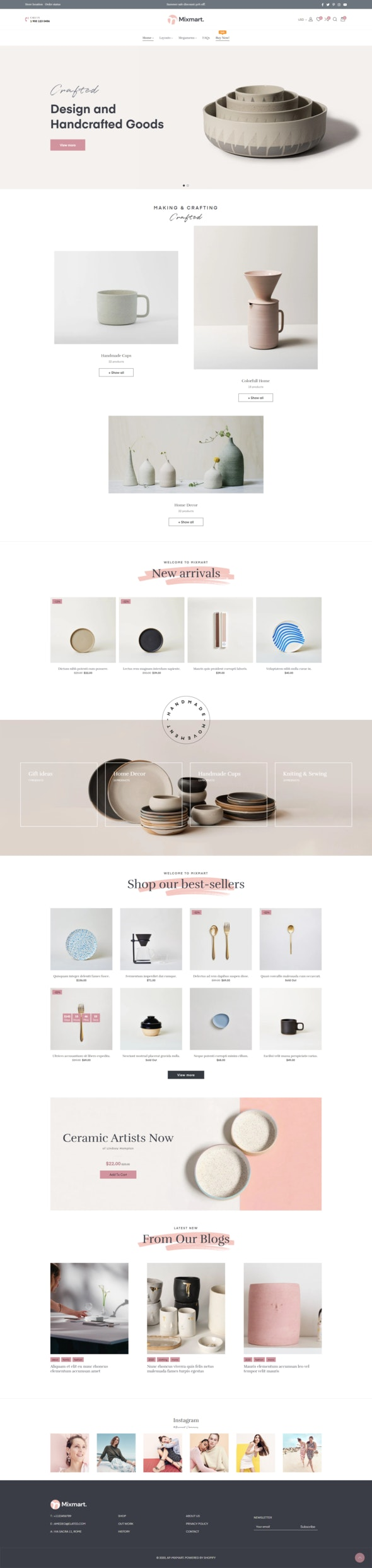 Ap Mixmart - Handmade Shopify Theme - Shopify eCommerce