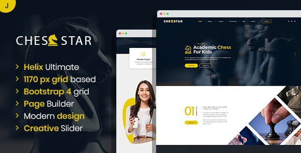 Download Chesstar - Chess Club and Personal Trainer Joomla Template