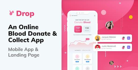 Drop   Blood Donation Mobile Figma Template