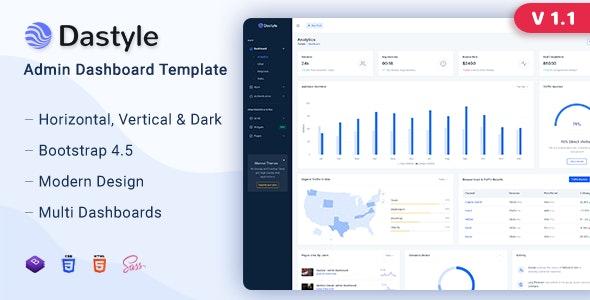 Dastyle - Admin & Dashboard Template - Admin Templates Site Templates