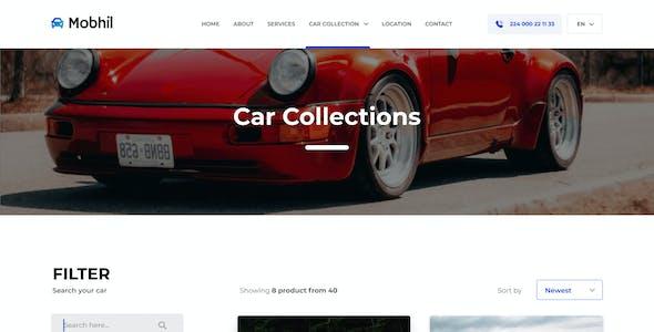 Mobhil Car Dealer Website Figma Template