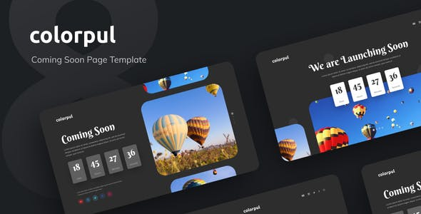 Colorpul - Coming Soon Website PSD Template