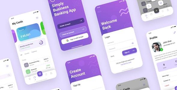 Banking Wallet iOS App UI Figma Template