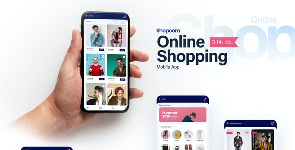 Shopcorn   Online Shopping Mobile Template