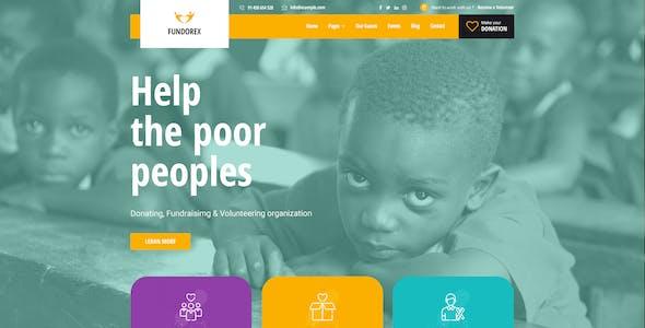 Fundorex - Charity & Donation PSD Template
