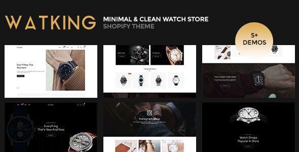 Watking – Minimal & Clean Watch Store Shopify Theme - Shopify eCommerce