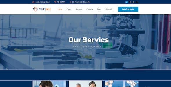 Mediku - Healthcare PSD Template