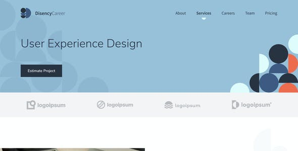 Disency | Startup & Business Web UI Kit for Adobe XD