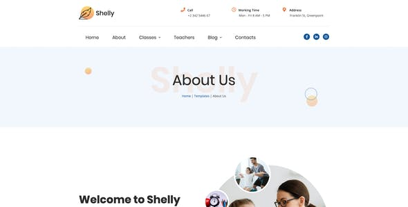 Shelly – School Template Kit for Elementor