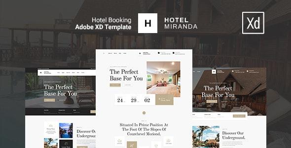 Miranda - Luxury Hotel XD Template - Travel Retail