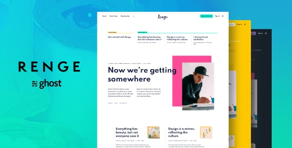 Renge - Creative Ghost Blog Theme - Ghost Themes Blogging