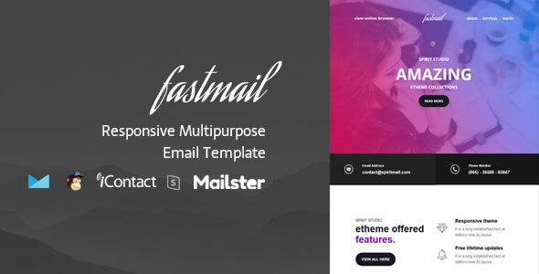 Fastmail + Online Access + Mailster + MailChimp - Email Templates Marketing